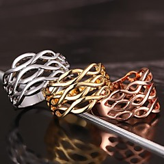 auszuhöhlen 18K Vergoldung-Ring exquisite Geschenk