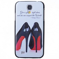 Cartoon High-heeled Shoes Pattern Back Cover for Samsung Galaxy S4 I9500