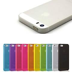 pp tynn tynn mobiltelefon beskyttelse skall for iPhone 5 / 5s (assortert farge)