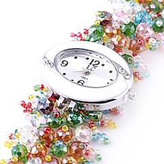 naisten analoginen muovia helmet hihna muotoilu pyöreä kellotaulu tyyli kvartsikello (valikoituja värejä)