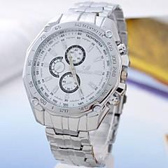 męska stopu wybierania biały kwarcowy analogowy zegarek zespół