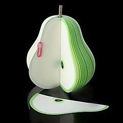 fantaisie mignon kawaii fruits nouveauté verte poire mémo bloc-notes bloc-notes pape