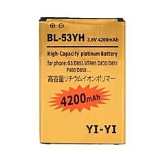 이순신 - 이순신 ™ 교체 G3 / BL-53yh / d855 / vs985 / D830 / d851를 LG 고용량 3.8V의 4200mah 리튬 이온 배터리를 디코딩