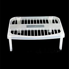 estante de almacenamiento multifuncional de plástico 28 × 19,5 × 11 cm (11,0 × 7,7 × 4,4 pulgadas)