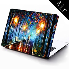 Oil Painting Lovers in the Rain Design Full-Body Protective Plastic Case for 11-inch/13-inch New Mac Book Air