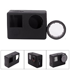 Fat Cat CS-4 Protective Silicone Shell Case w/ UV Filter for GoPro Hero 4 / 3+ /3