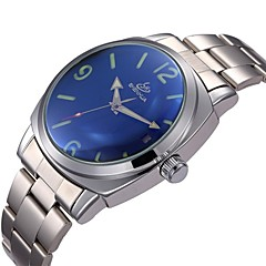 Men's Auto-Mechanical Simple Dial Steel Band Wrist Watch (Assorted Colors)