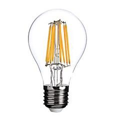 ON E26/E27 8W 8 COB 800 LM Warm White A60(A19) edison Vintage LED Filament Bulbs AC 220-240 V