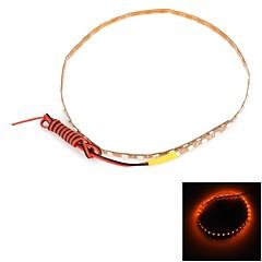 ly184 12W 180lm 45-SMD 1210 LED keltainen auto joustava valo nauhat (dc 12v / 40cm)