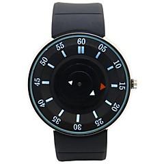 reloj reloj deportivo de marcado correa de silicona reloj de pulsera de cuarzo japonés ronda de los hombres (colores surtidos)
