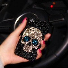 senhora do estilo crânio com moldura de diamante para iphone 5 / 5s
