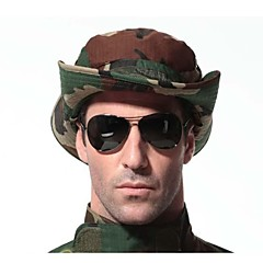 ESDY Camouflage Outdoor Fishing Windproof Polyester Shade Rounded Edges Ben Nepalese Hat Woodland Camo