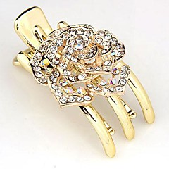 Fashion Rhinestone Flower Hair Claws Random Color