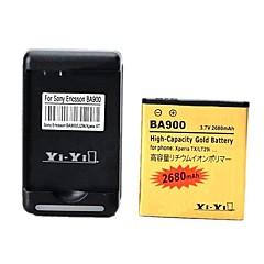 우리가 XPERIA TX / lt29i / 엑스 페리아 L / s36h / ba900에 대한 배터리 충전기를 연결 USB와 이순신 - 이순신 ™ 3.7의 2680mah 배터리