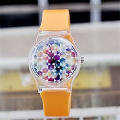 Color Magic montre en plastique transparent circulaire de haute qualité de mouvement de montre japonaise des femmes