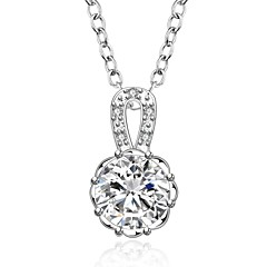 Cremation jewelry 925 sterling silver Round with Zircon Pendant Necklace for Women