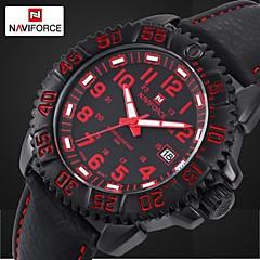 relojes de moda a prueba de agua reloj militar banda de cuero luminoso muñeca deportes de marcación de los hombres (colores surtidos)