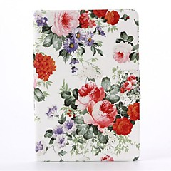 Flowers Pattern PU Leather Full Body Case with Stand  for iPad Mini 1/2/3