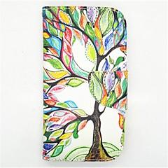livets træ mønster pu læder full body taske med kort slot og står for Samsung S4 i9500