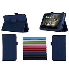 7 tums två vikningsmönster lichee PU läder för HP Slate 7 3g tablett (blandade färger)