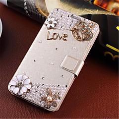 seturi de telefon manual de diamant aspect flip-induse de vânt se potrivesc pentru Samsung S5 / i9600 gm