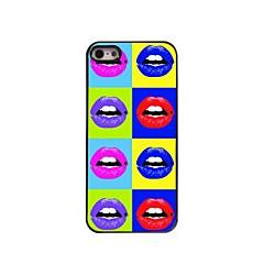 sexy étui rigide lèvre design en aluminium pour iPhone 5 / 5s