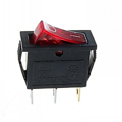 3-pin-plug 2-step rocker switch fény (15a / 250V 20a / 125 V AC) - (5db)