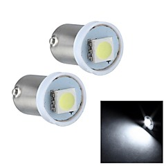 Merdia BA9S 0.5W 15LM 1x5050SMD LED White Light High Performance LED License Plate Light /Door Lamp(Pair/12V)