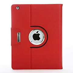 High Quality Litchi Pattern PU Protect Holster with Buckle and 360 Degree Rotation for iPad 2/3/4