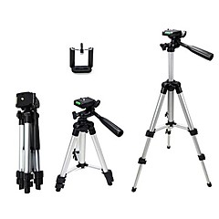 Mini Aluminum Tripod Stand Holder for Mobile Cell Phone Fishing Light and Camera with carry bag