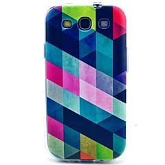 Square Pattern TPU Soft Case for S3 I9300