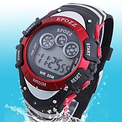 borracha militar impermeável lcd digital multifunções relógio dos esportes dos homens (cores sortidas)
