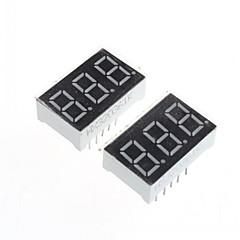 0.36in (2pcs) - compatible (pour Arduino) module d'affichage à 3 chiffres.