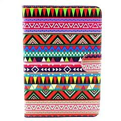 Retro Colorful Stripe Pattern PU leather Cases for iPad mini 1/2/3