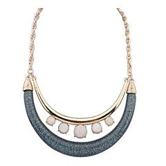 Women's New Double Crescent Necklace