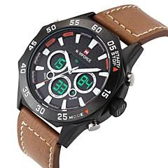 שעוני גברים יוקרה אנלוגי אופנת digtital הספורט צבאית שעון יד עור אמיתית הובילה שעון יד (צבעים שונים)