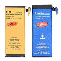 batteria di ricambio - IP4SG - 3030 - Apple - iPhone 4s - con caricabatterie