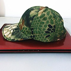 ESDY Fishing Outdoor Windproof Polyester Camouflage Hat Baseball Cap Sun Visor Green Python