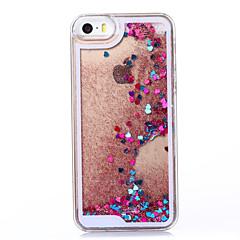 rojo que fluye entorno corazón como el caso duro del patrón de plástico reloj de arena para el iphone 5 / 5s