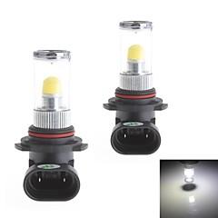 HJ 9006 8W 700LM 6000-6500K 1x3D LED White Light Bulb for Car Fog Light (12-24V,2 Piece)