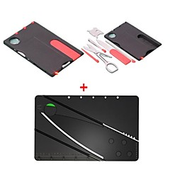 2-in-1 Multi-function Mini Folding Credit Card Size Pocket Camping Tool