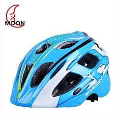 moon lastenhuoneeseen 17 tuuletusaukot eps + pc sininen valettu yhtenäiseksi pyöräily kypärä (52-55cm)