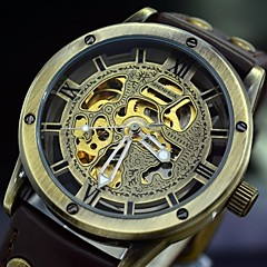 Men's Retro Auto-Mechanical Watch Vintage Automatic Self Wind Leather Skeleton Wrist Watch (Assorted Colors) Cool Watch Unique Watch Fashion Watch