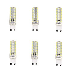 4W G9 נורות תירס לד 72 SMD 2835 600 lm לבן חם / לבן קר עמעום AC 220-240 V שישה חלקים