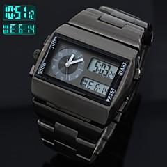 Men's Watch Full Steel Multi-Functional Analog-Digital Sports Wrist Watch LED Quartz Clock (Assorted Colors)