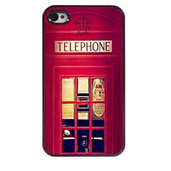 Telephone Booth Design Aluminum Hard Case for iPhone 4/4S