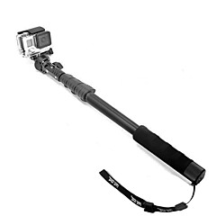fat cat intrekbare 3-in-1 intrekbare monopod + houder + mount adapter voor GoPro / iphone + meer
