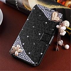 Varten Samsung Galaxy kotelo Korttikotelo / Paljetti / Tuella / Flip Etui Kokonaan peittävä Etui 3D piirros Tekonahka Samsung S4 Mini