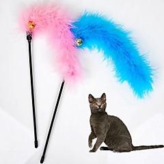 고양이 장난감 반려동물 장난감 티저 / 깃털 장난감 벨 직물 랜덤 색상