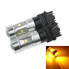 2x 3157 P27 W2.5X16Q  30W 6xCREE Yellow Red 2100LM  for Car Turn Signal Light (AC/DC12V-24)